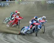 Tomasz Gollob na podium w Lesznie