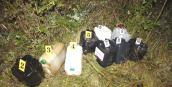 Kradzione paliwo znalezione w lesie