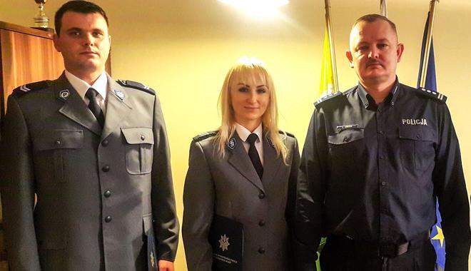 Docenieni za profesjonalną służbę przez komendanta