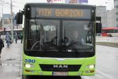 Prezydent Wójcicki na czele autobusowej kolumny