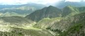 Zielone góry Meksyku z blokadami