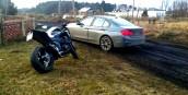 Niebezpieczna szarża na kradzionym motocyklu