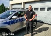 Policjant z Witnicy pomógł tonącej