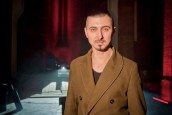 """Adam Bałdych w studiu radiowej """"Trójki"""""""