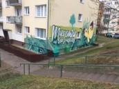 Najnowszy mural na Osiedlu Słonecznym już zachwyca