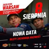 Żużlowe Grand Prix w Warszawie przełożone!