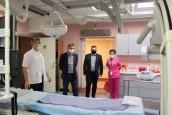 Angiograf w szpitalu gotowy do działania