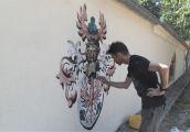Kolejny mural, choć nieco inny od tradycyjnych
